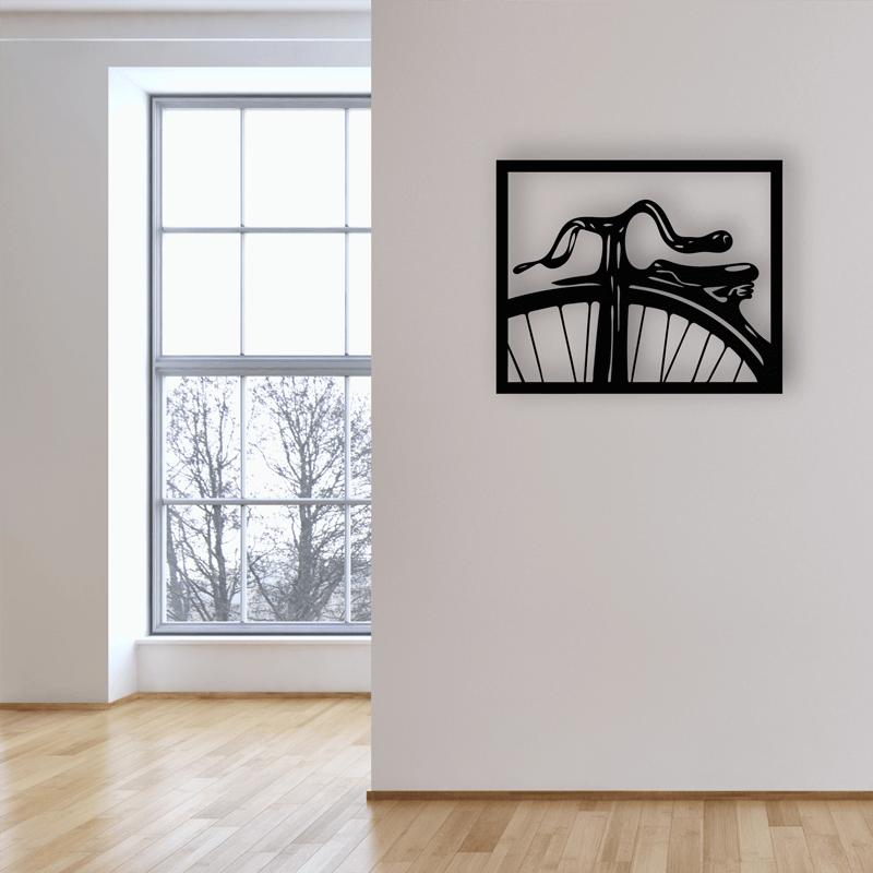 Vintage bicycle metal wall art