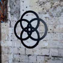 Spiritual Celtic knot metal wall art