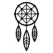 Spiritual Dream catcher metal wall art