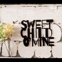 Sweet child o'mine metal wall art