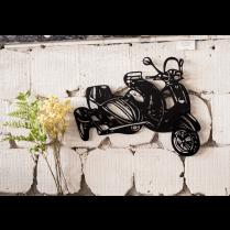 Vespa vintage metal wall art